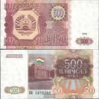 Tajikistan Pick-number: 8a Uncirculated 1994 500 Rubles - Tajikistan