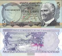 Turkey Pick-number: 185 Uncirculated 1970 5 Lira - Turkey