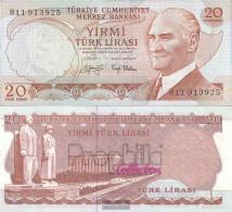 Turkey Pick-number: 187a Uncirculated 1970 20 Lira - Turkey