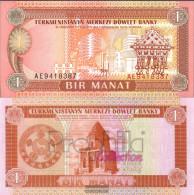Turkmenistan Pick-number: 1 Uncirculated 1993 1 Manat - Turkmenistan