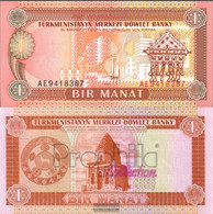 Turkmenistan Pick-number: 1 Uncirculated 1993 1 Manat - Turkménistan