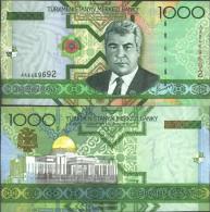Turkmenistan Pick-number: 20 Uncirculated 2005 1.000 Manat - Turkménistan