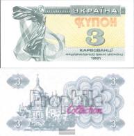 Ukraine 82a Uncirculated 1991 3 Karbovanets - Ukraine