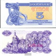 Ukraine 83a Uncirculated 1991 5 Karbovantsir - Ukraine