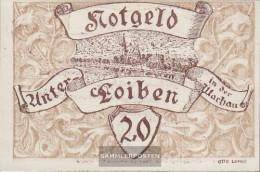 Under-Loiben Notgeld The City Under-Loiben Uncirculated 1920 20 Bright - Austria