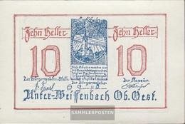 Under-Weissenbach Notgeld The City Under-Weissenbach Uncirculated 1920 10 Bright - Austria