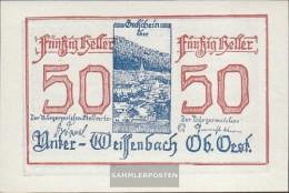 Under-Weissenbach Notgeld The City Under-Weissenbach Uncirculated 1920 50 Bright - Austria