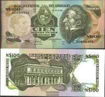 Uruguay Pick-number: 62A Uncirculated 1987 100 Nuevos Pesos - Uruguay