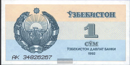 Uzbekistan Pick-number: 61a Uncirculated 1992 1 Sum - Uzbekistan