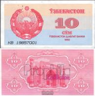 Uzbekistan Pick-number: 64a Uncirculated 1992 10 Sum - Uzbekistan