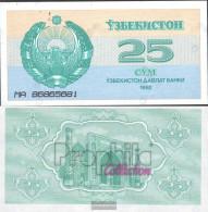 Uzbekistan Pick-number: 65a Uncirculated 1992 25 Sum - Uzbekistan