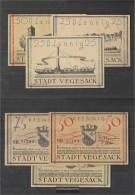 Vegesack Notgeld: 1359.2 Three Notgeldscheine The City Vegesack Uncirculated 1921 25, 50 & 75 Pfennig Vegesack - [11] Local Banknote Issues