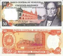 Venezuela Pick-number: 65f Uncirculated 1998 50 Bolivares - Venezuela