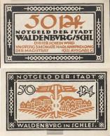Waldenburg Notgeld: 1371.15 50 Pf Notgeld The City Waldenburg Uncirculated 1921 50 Pfennig Waldenburg - [11] Local Banknote Issues