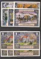 Walsrode Notgeld: 1372.1 Five Notgeldscheine The City Walsrode Uncirculated 1922 5 X 1 Mark Walsrode - [11] Local Banknote Issues
