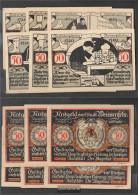 Weissenfels Notgeld: 1403.2 Six Notgeldscheine The City Weissenfels Uncirculated 1921 6 X 50 Pfennig Weissenfels - [11] Local Banknote Issues
