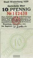 Westerburg Notgeld: 10 Pf Notgeld The City Westerburg Uncirculated 1920 10 Pfennig Westerburg - [11] Local Banknote Issues