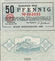 Westerburg Notgeld: 50 Pf Notgeld The City Westerburg Uncirculated 1920 50 Pfennig Westerburg - [11] Local Banknote Issues