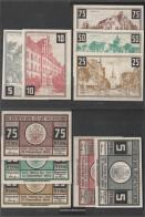 Wunstorf Notgeld: 1458.2a) Five Notgeldscheine The City Wunstorf Uncirculated 1921 5,10,25,50 & 75 Pfennig Wunstorf - [11] Local Banknote Issues