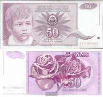 Yugoslavia Pick-number: 104 Uncirculated 1990 50 Dinara - Yugoslavia