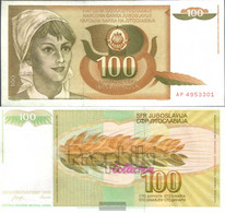 Yugoslavia Pick-number: 105 Uncirculated 1990 100 Dinara - Yugoslavia