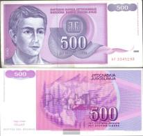 Yugoslavia Pick-number: 113 Uncirculated 1992 500 Dinara - Yugoslavia