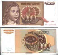 Yugoslavia Pick-number: 116a Uncirculated 1992 10.000 Dinara - Yugoslavia