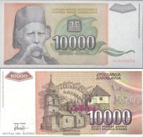 Yugoslavia Pick-number: 129 Uncirculated 1993 10.000 Dinara - Yugoslavia