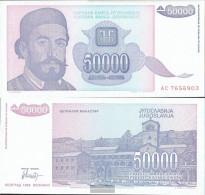 Yugoslavia Pick-number: 130 Uncirculated 1993 50.000 Dinara - Yugoslavia