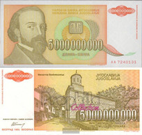 Yugoslavia Pick-number: 135a Uncirculated 1993 5 Billion. Dinara - Yugoslavia