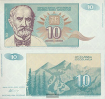 Yugoslavia Pick-number: 138a Uncirculated 1994 10 Dinara - Yugoslavia