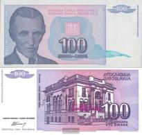 Yugoslavia Pick-number: 139a Uncirculated 1994 100 Dinara - Yugoslavia