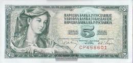 Yugoslavia Pick-number: 81a, Signature 7 Uncirculated 1968 5 Dinara - Yugoslavia
