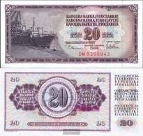 Yugoslavia Pick-number: 88a Uncirculated 1978 20 Dinara - Yugoslavia