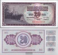Yugoslavia Pick-number: 88b Uncirculated 1981 20 Dinara - Yugoslavia