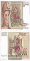 Yugoslavia Pick-number: 95 Uncirculated 1987 20.000 Dinara - Yugoslavia