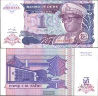 Zairean Zaire Pick-number: 52a Uncirculated 1993 1 Zairean Zaire (New) Leopard - Zaire