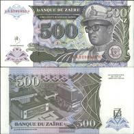 Zairean Zaire Pick-number: 63a Uncirculated 1994 500 Zaires (New) - Zaire