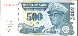 Zairean Zaire Pick-number: 65a Uncirculated 1995 500 Zaires (New) - Zaire