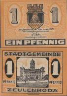 Zeulenroda Notgeld: Notgeld The City Zeulenroda Uncirculated 1920 1 Pfennig Zeulenroda - [11] Local Banknote Issues