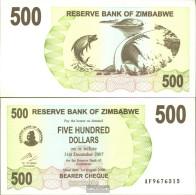 Zimbabwe Pick-number: 43 Uncirculated 2006 500 Dollars - Zimbabwe