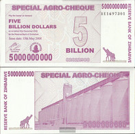 Zimbabwe Pick-number: 61 Uncirculated 2008 5 Billion US Dollars - Zimbabwe