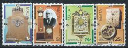 Malta 1995 - Antique Maltese Clocks SG1000-1003 MNH Cat £4.65 SG2015 - Malta