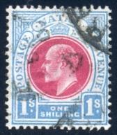 Natal 1902. 1sh Carmine And Pale Blue (wmk.CA). SACC 118, SG 136. - South Africa (...-1961)