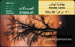 United Arab Emirates 1290 30 Dhs Used Tree In Sonnenuntergang - United Arab Emirates