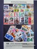 Rwanda 100 Different Stamps Unmounted Mint / Never Hinged - Collections