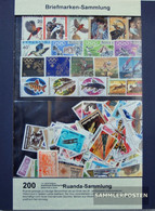 Rwanda 200 Different Stamps Unmounted Mint / Never Hinged - Collections