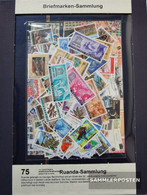 Rwanda 75 Different Stamps Unmounted Mint / Never Hinged - Collections