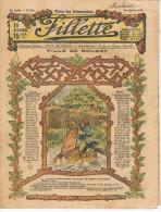 """26 Janvier 1919 """" FILLETTE"""" Revue N°568  Couverture """"ART DECO """"  Etat Correct, Dans Son Jus. - 1900 - 1949"""