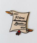 Pin's Parchemin Déroulé Somelec 30e Anniversaire - PC - Pin's
